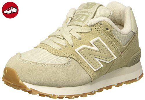 New Balance Unisex Unisex Balance Kinder 574 Leder Mesh Sneakers, Braun (Light ... b45888