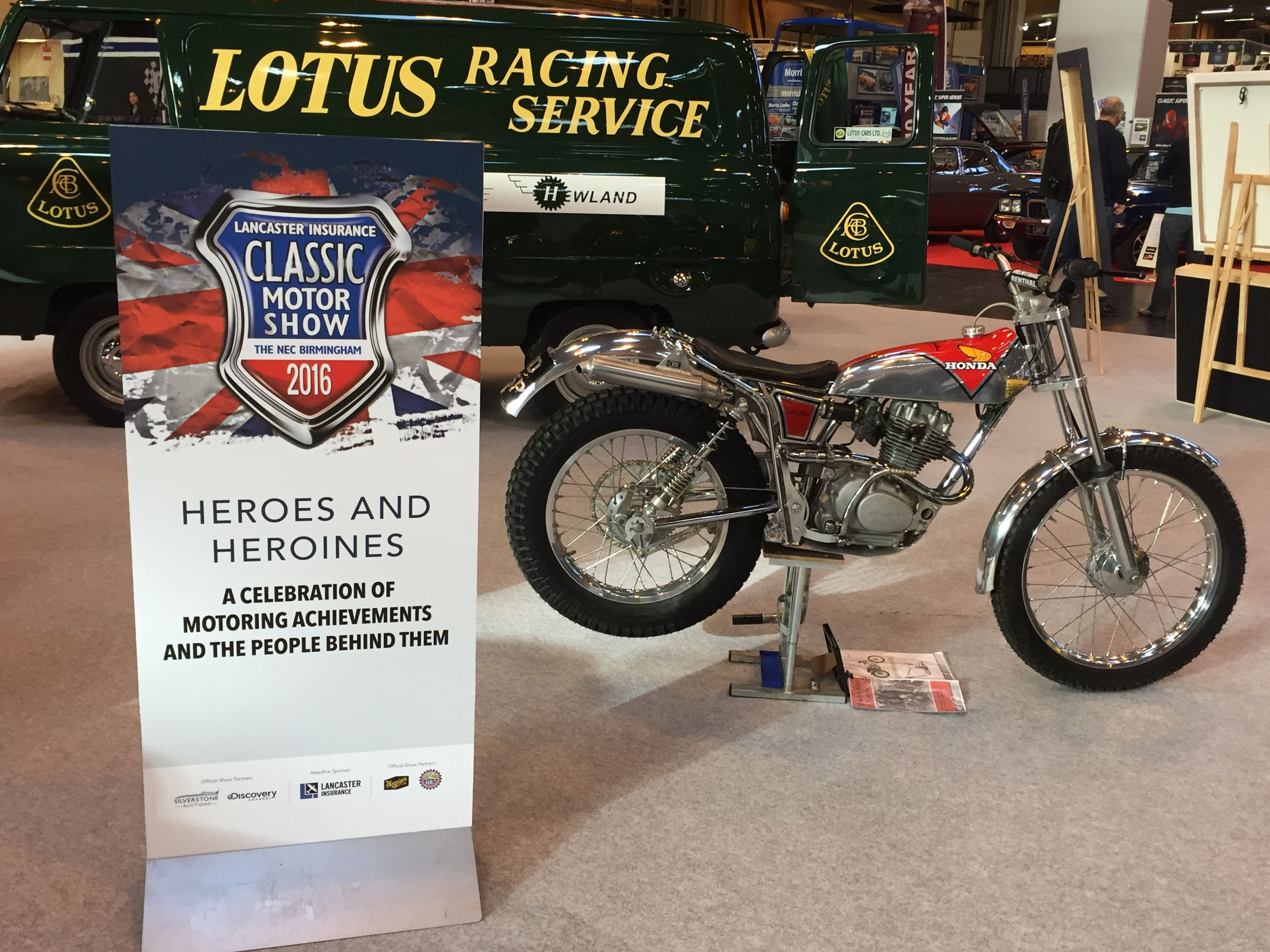 Sammy Miller Honda TL150 High Boy Classic Car And Bike Show NEC 2016