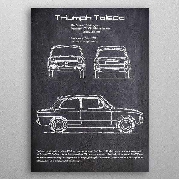 Triumph Toledo by FARKI15 DESIGN | metal posters - Displate | Displate thumbnail