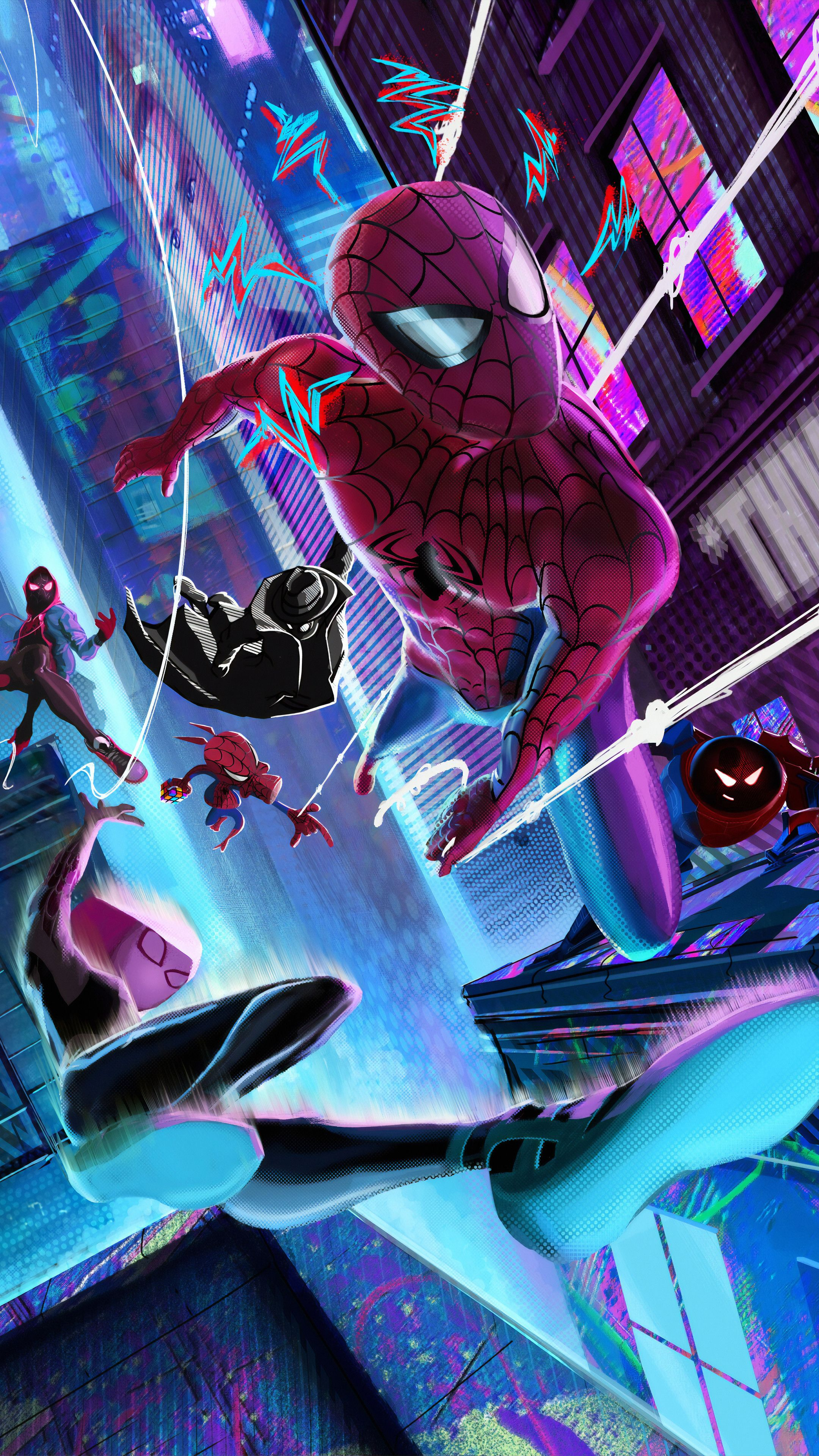 Spider Verse Gang Wallpapers | hdqwalls.com