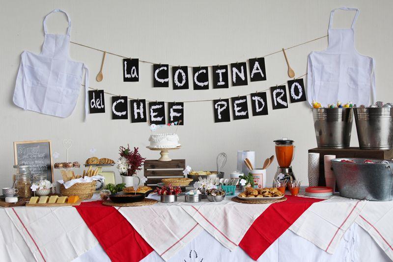CUMPLE DEL CHEF PEDRO | Ideas Fiesta!! | Pinterest | Chefs, Cumple y ...