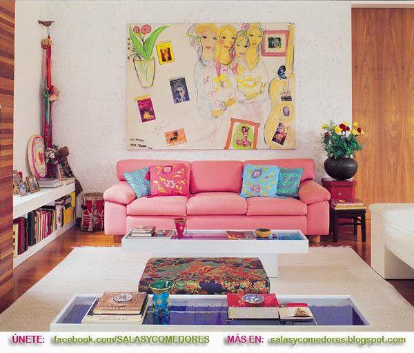 DECORACIÓN DE SALAS COLORIDAS | Casa | Pinterest | Colorful interior ...