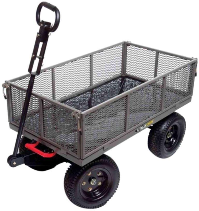 Utility Dump Cart Garden Lawn Yard Wagon Heavy Duty Multi Use Steel 1 200 Lb Dump Cart Wheelbarrow Lawn Tractor