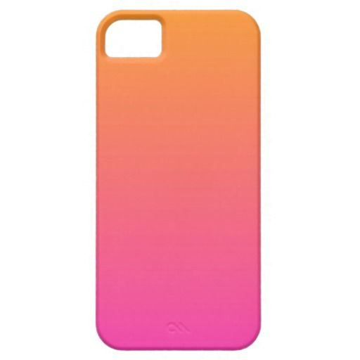 Orange and pink ombre case iPhone 5 cover
