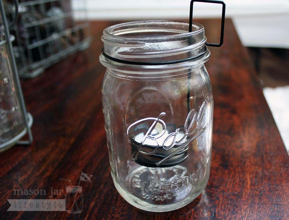 Tea Light Holder Neck Clip Insert For Regular Mouth Mason Jars Mason Jars Mason Jar Accessories Mason Jar Candles