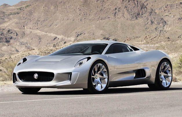 Jaguar C X75 Twin Turbine Concept Car.