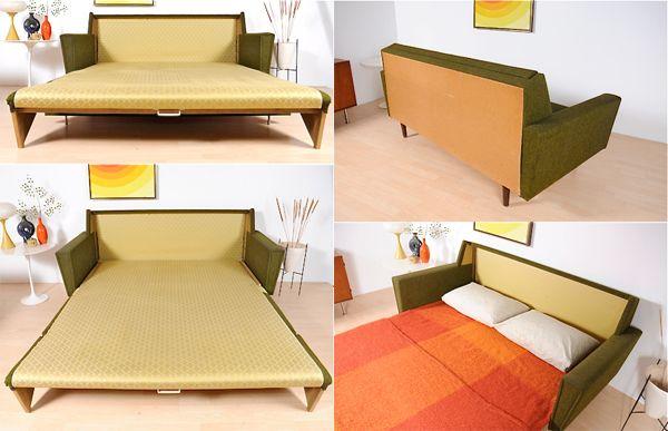 1960s Danish Sofa Bed
