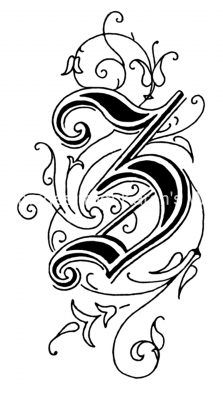 Gothic Letters 9 - Letter Z