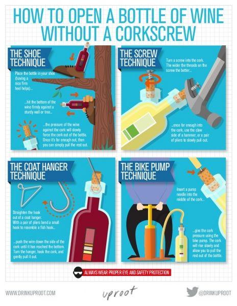 Cómo Abrir Una Botella De Vino Sin Sacacorchos Vinos Y Quesos Botellas De Vino Vino