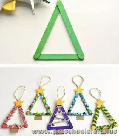 Triangle Christmas tree. Try for co-op preschool class ...