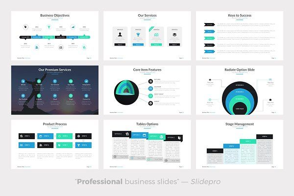 Business Plan Powerpoint Template  Presentations  Portfolios Web