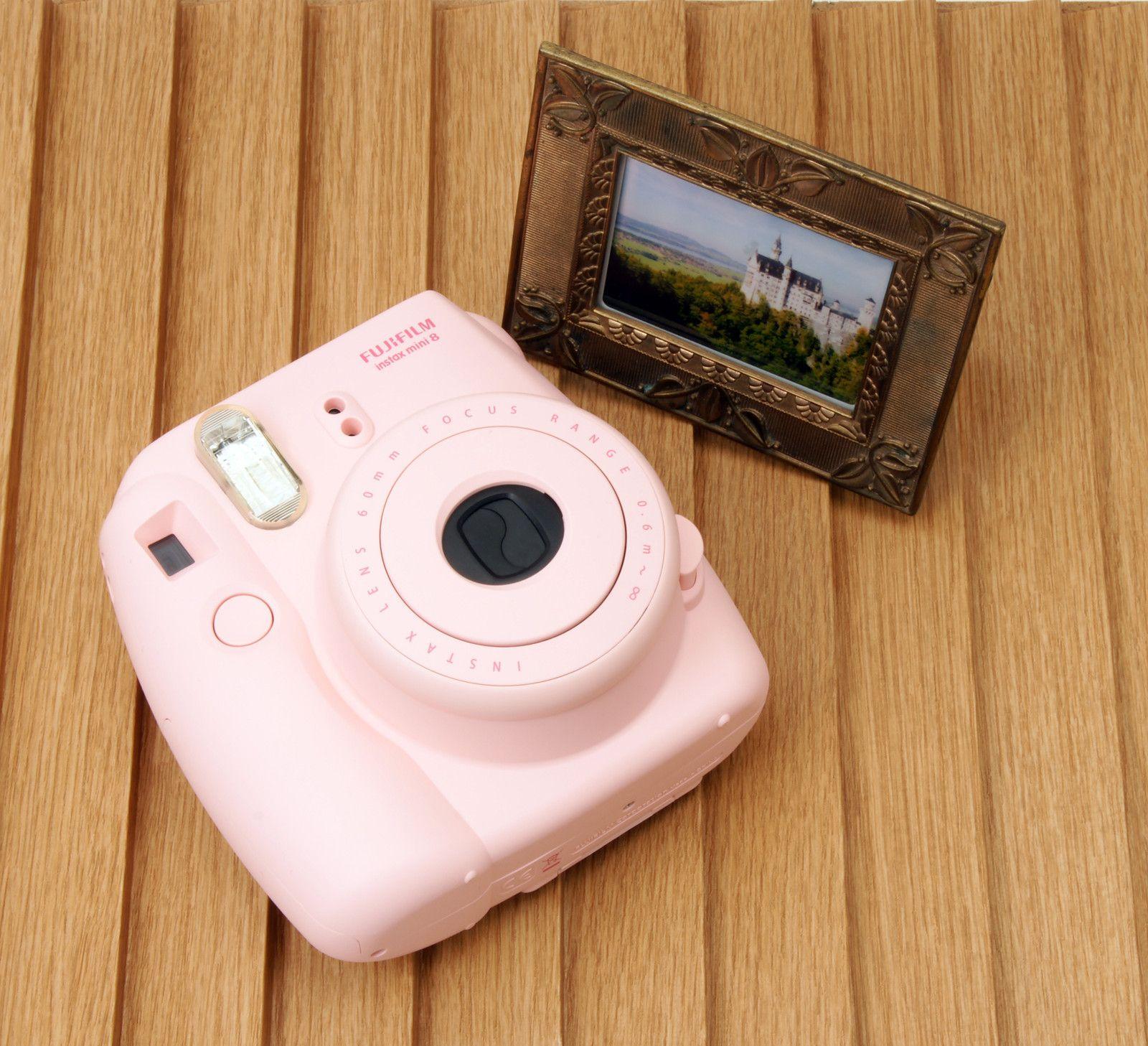 pink fujifilm polaroid