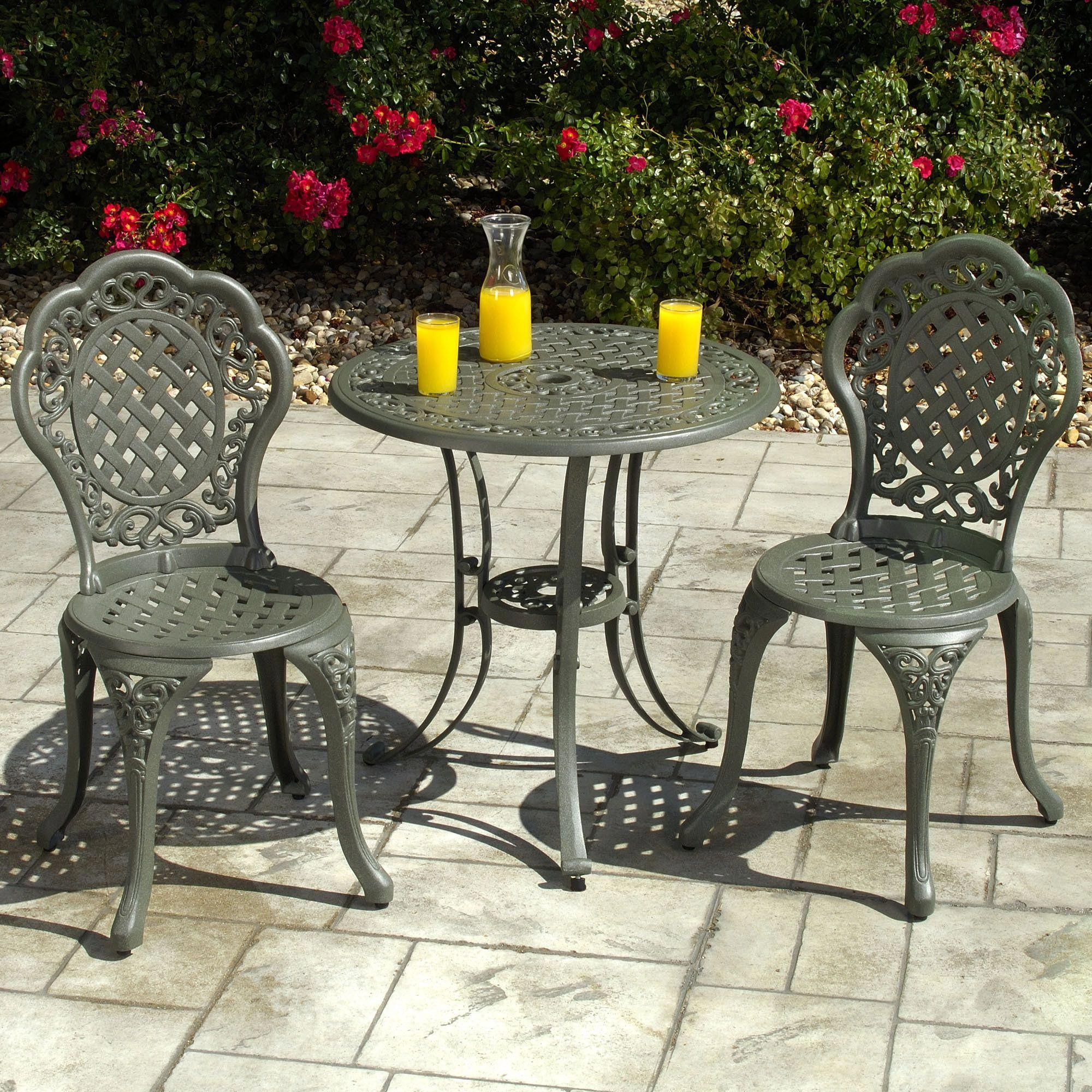 stylish bistro table sets with juice drink on the table also flower rh pinterest com
