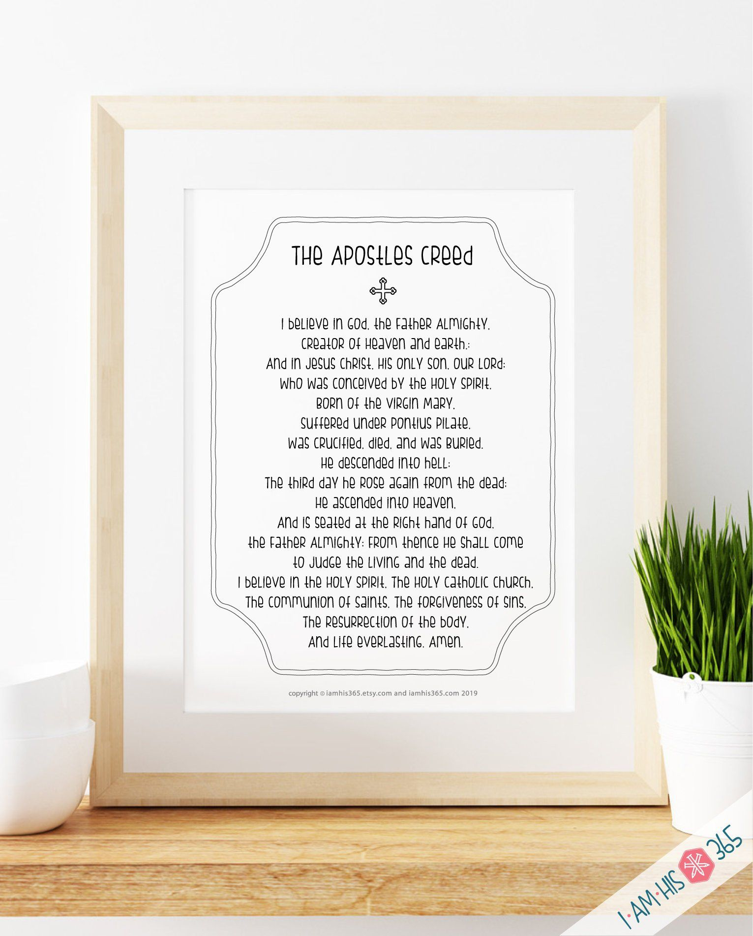Apostles creed prayer print catholic prayer printable