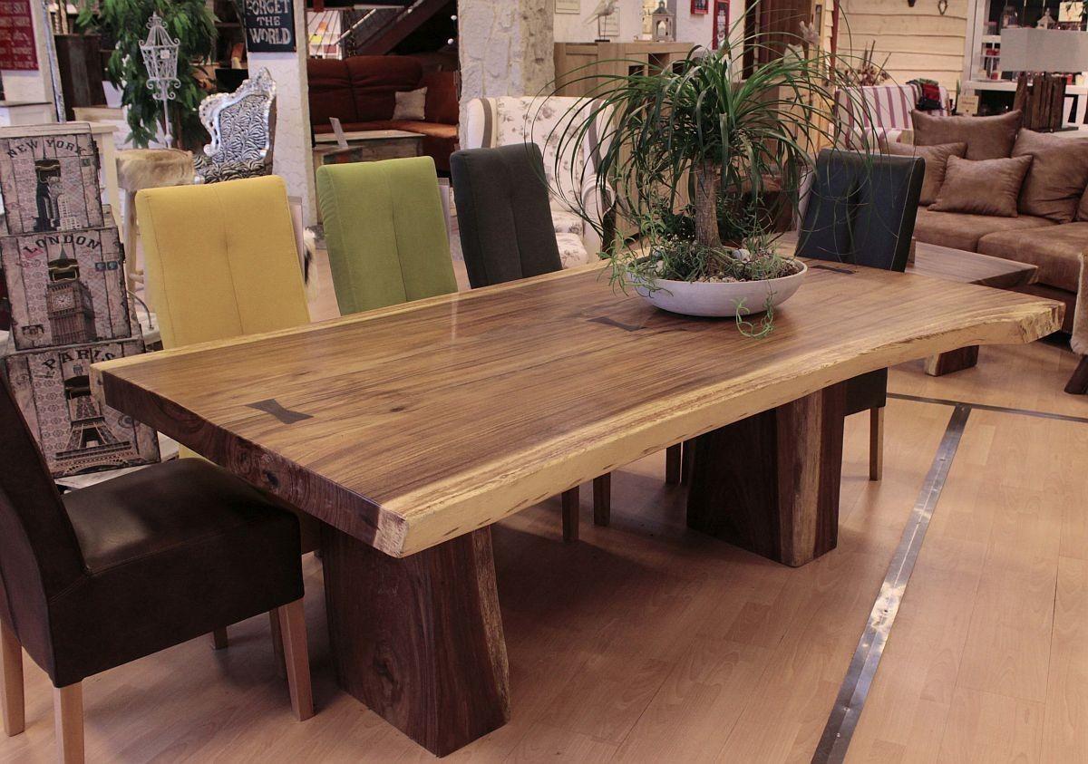 xxl - esstisch 200 x 129 cm hartholz massiv | eßtische/ dining, Esstisch ideennn