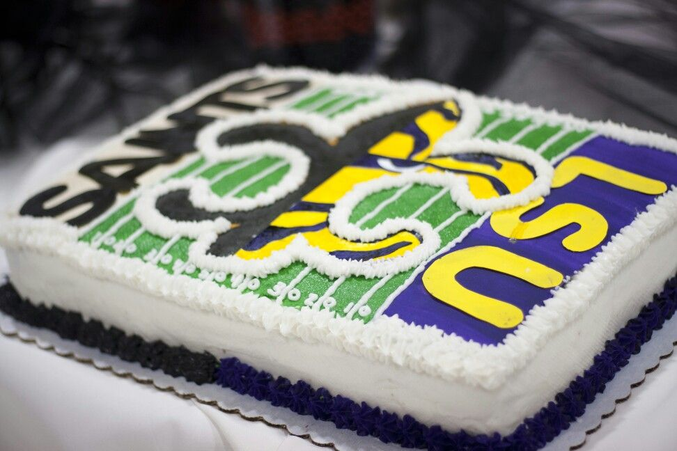 Grooms Cake New Orleans Saints And LSU Tigers