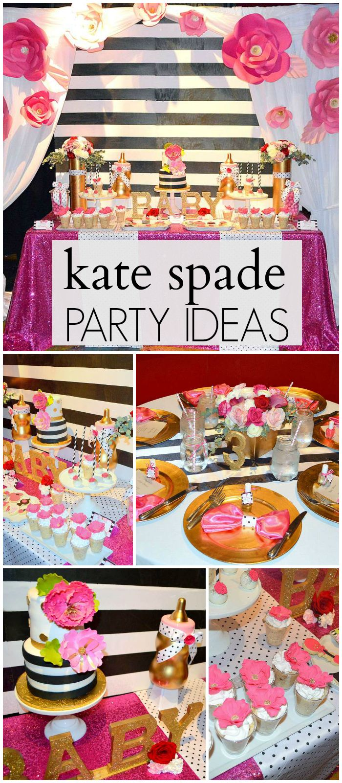 You have to see this amazing Kate Spade baby shower! See more party ideas  at CatchMyParty.com!