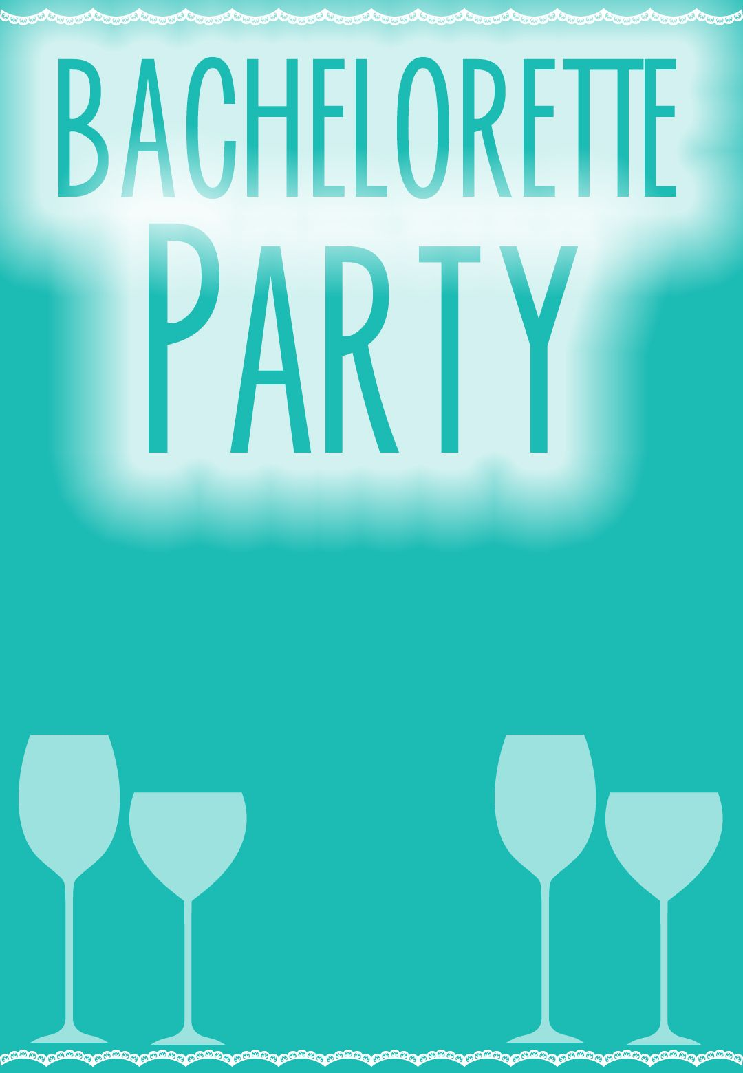 This Is A Really Cute And FREE Bachelorette Party Invitation It Has An Option For Customization Perfect Bridal Blue Theme Or Pretty