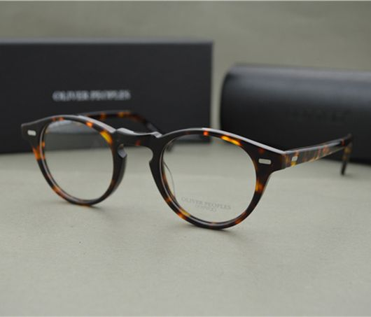 392a0b6332 Famous Brand Oliver Peoples Eyeglasses Gregory Peck OV 5186 Oval Vintage  Myopia Glasses Frame Men and Women Retro Eye glasses
