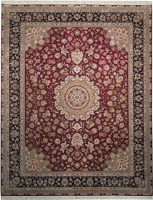 8x10 Wool Silk New Fine Quality Rug Burgundy Tabriz A Fine Hand Knotted Rug Dense Wool And Silk Pile 200 Kpsi New Never Be Rugs Quality Rugs Cool Rugs