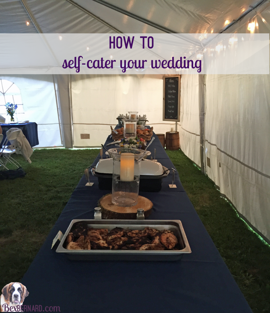 self catered wedding menu and timeline