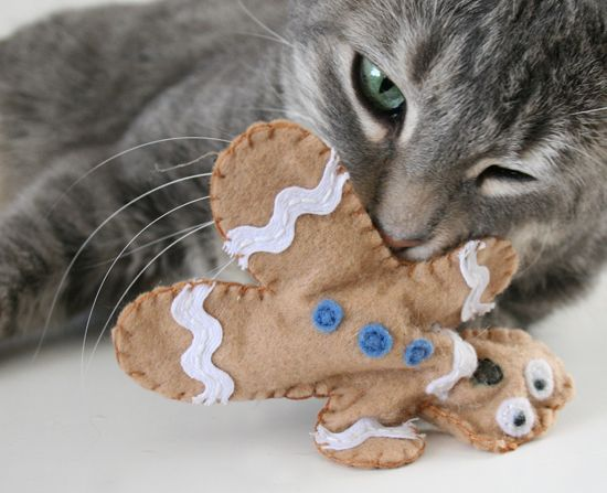 Distressed Gingerbread Man Cat Toys Diy cat toys