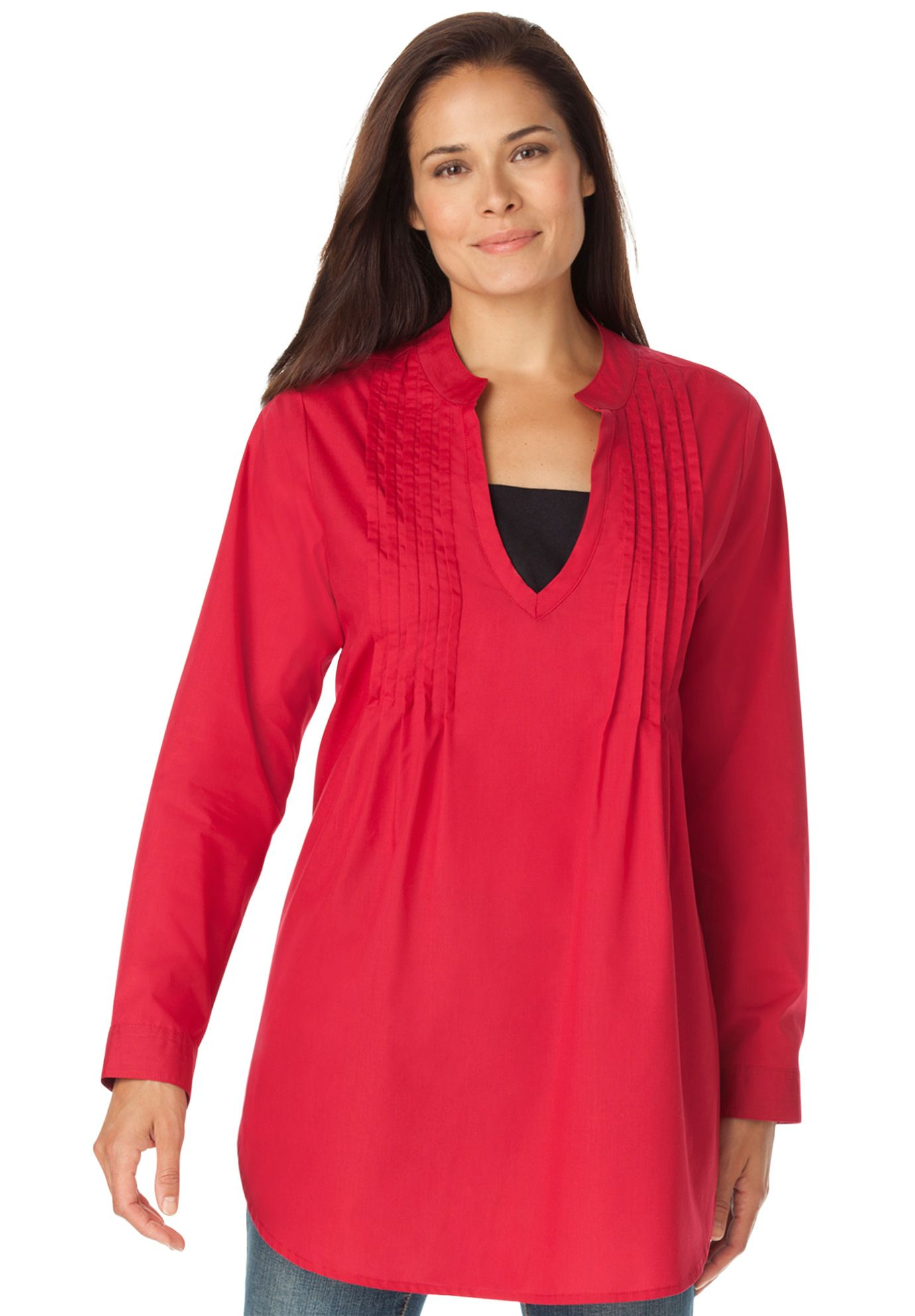 b854aac8fa1d8 Layered-look tunic shirt with long sleeves