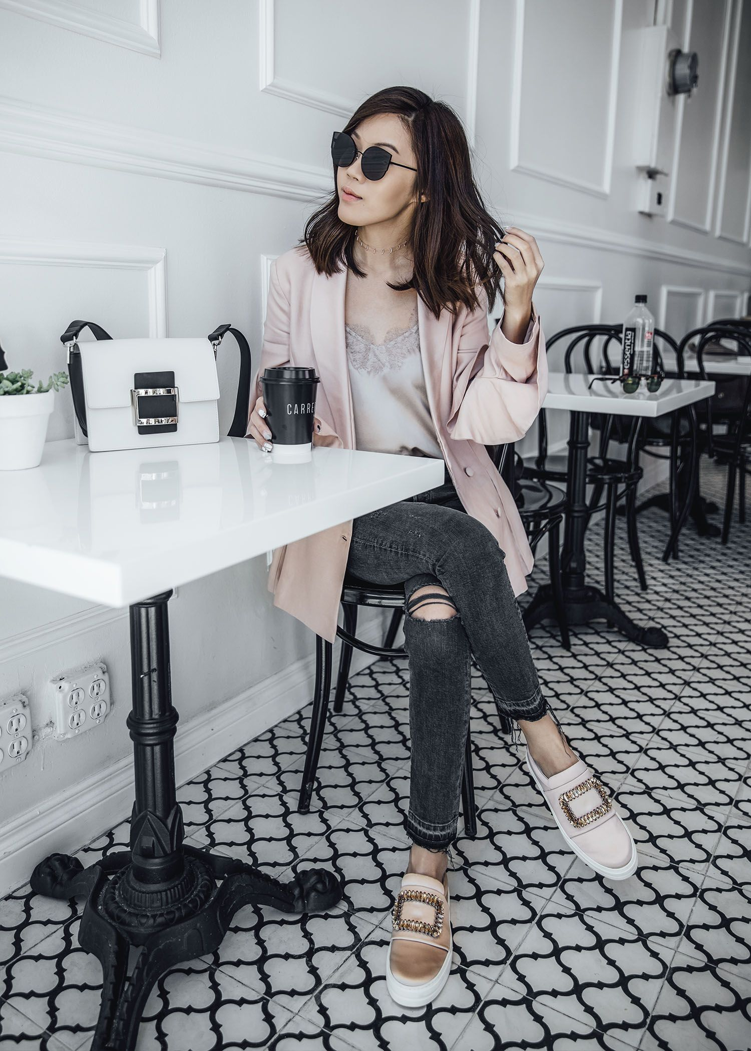 9ce4c1e880a Street style fashion blogger influencer Jenny Tsang of Tsangtastic wearing  C MEO COLLECTIVE Replay Ruffle