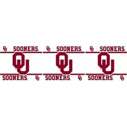 College Wall Border This Oklahoma Sooners Vinyl L And Stick Is Packaged In Rolls Of 5 H X 15 It Easy To Ly