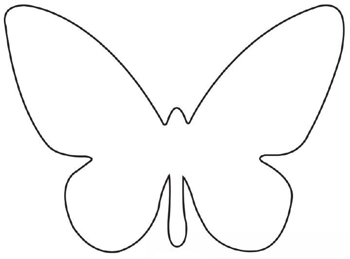 Free printable butterfly template collage scrapbooking for Butterfly template free