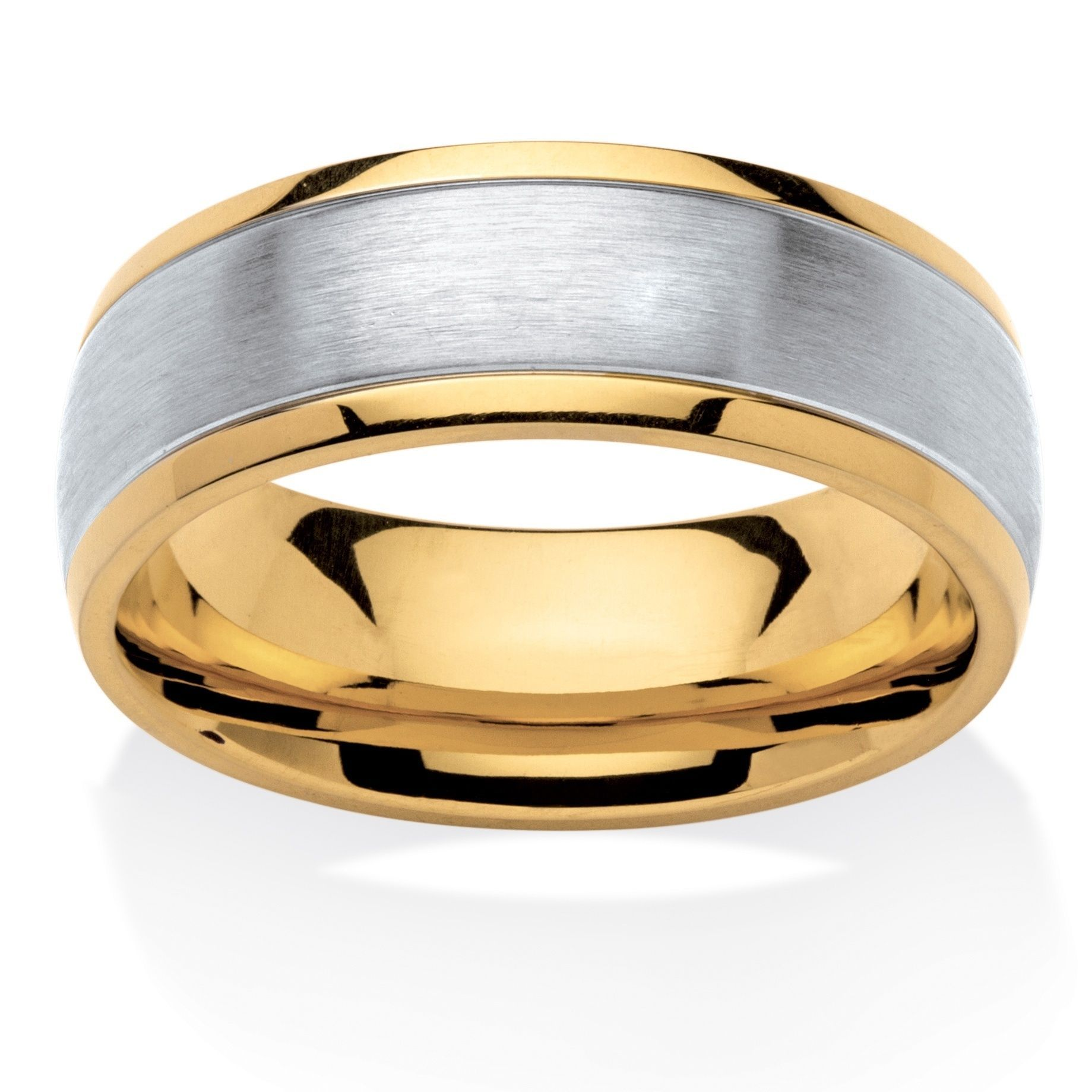 Stainless Steel and Gold Ionplated Men's Tailored Two