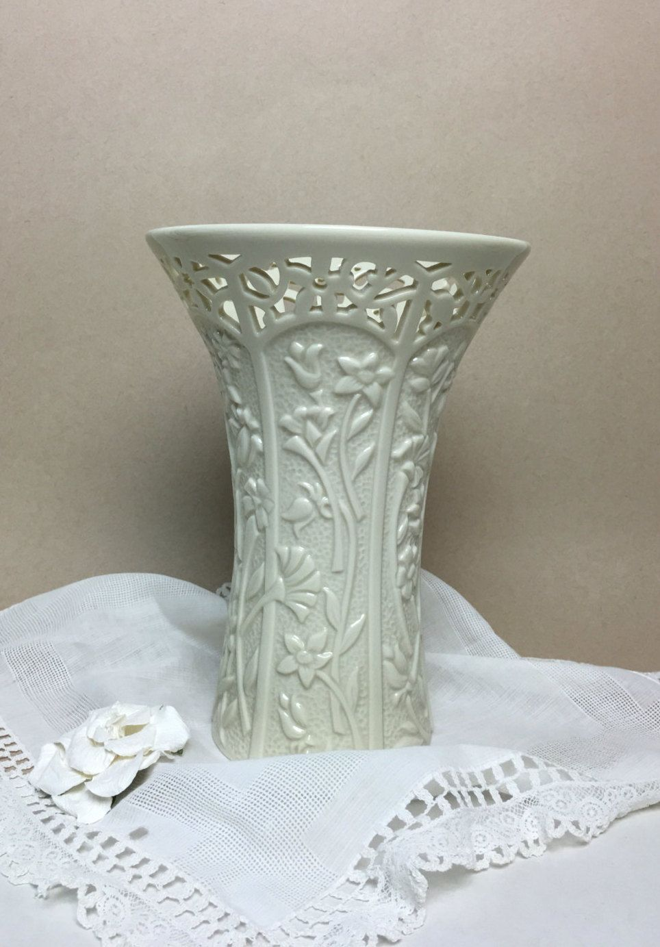 Lenox china tall vase stemmed flowers pierced lattice rim by lenox china tall vase stemmed flowers pierced lattice rim by anaforia on etsy floridaeventfo Image collections