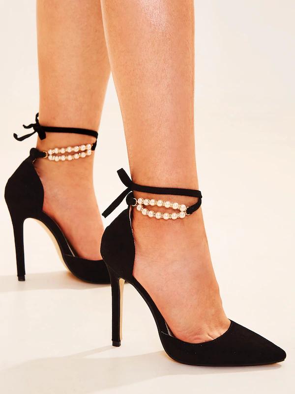 Très Talons Hauts Pointus bout Slingback Chaussures Femme Boucle Talon Aiguille Soirée Sandales