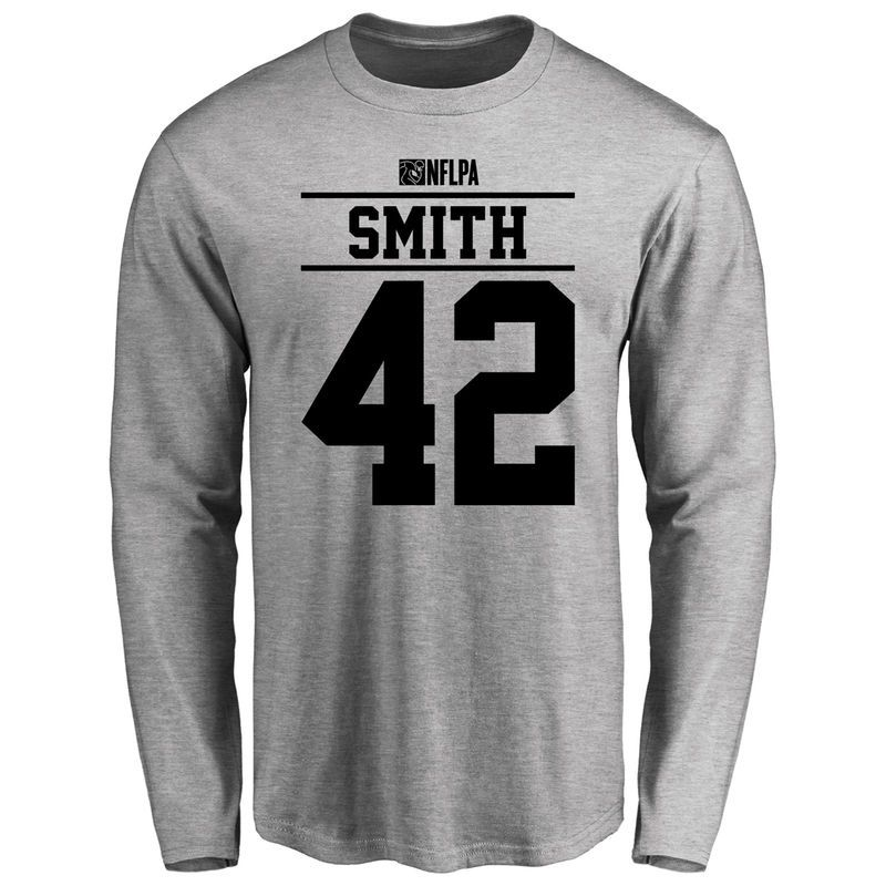 8e48aef11 Rod Smith Player Issued Long Sleeve T-Shirt - Ash