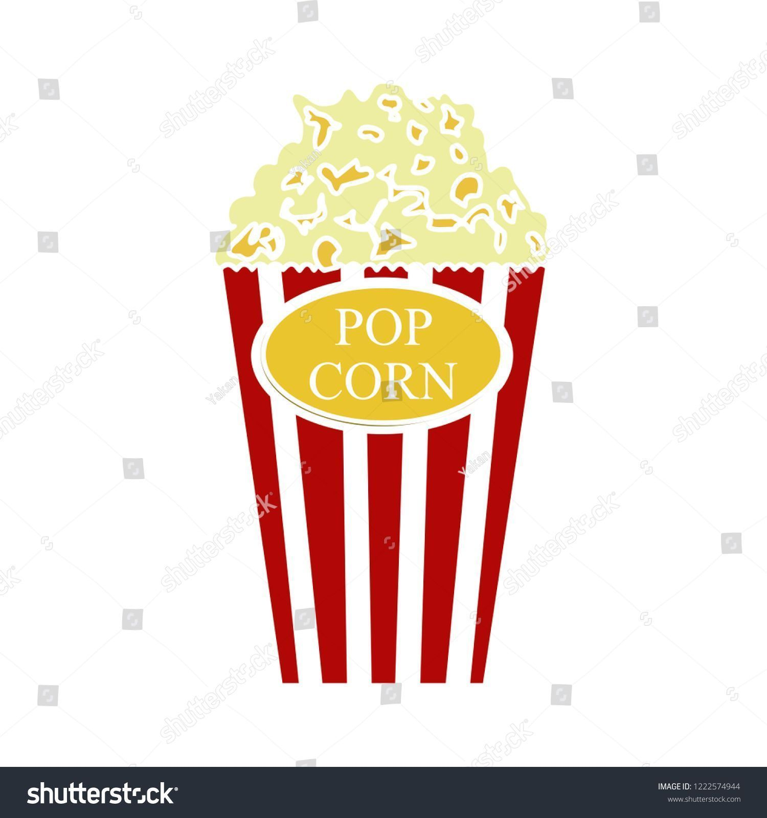 Popcorn Flat Icon Cinema Theater Symbol Vector Entertainment Illustration Is Encoding Audio Video And Photo C In 2020 Theatre Symbol Cinema Theatre Flat Icon