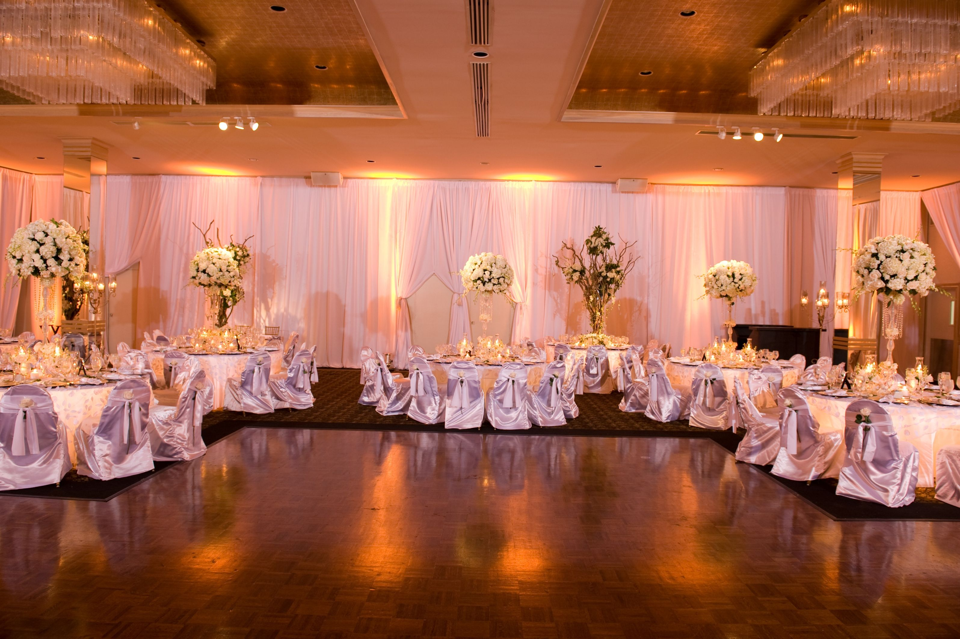 Columns ivory fabric uplighting wedding ceremony downtown double tree - Create An Amazing Event With Minnesota Wedding Uplighting By Pro Sound Light Show Djs Up Lights Are Also Available For Wisconsin Wedding Receptions