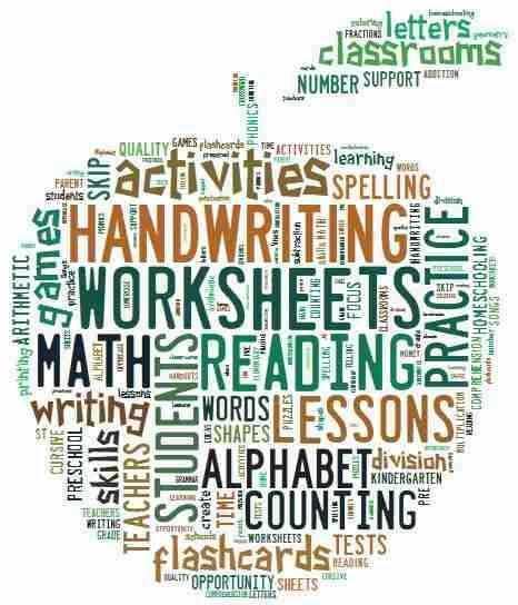 worksheets site word cloud | Kindergarten ELA and Math | Pinterest ...