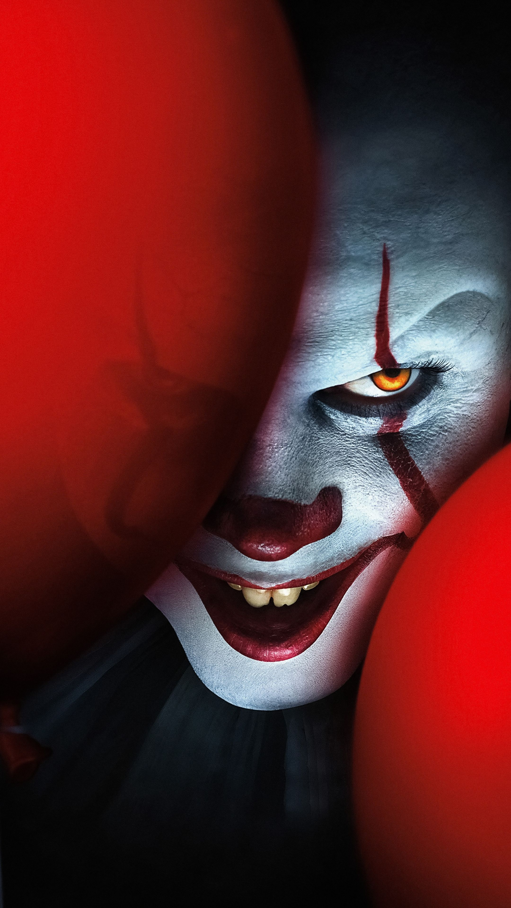 2160x3840 it chapter two clown 2019 movie creepy face