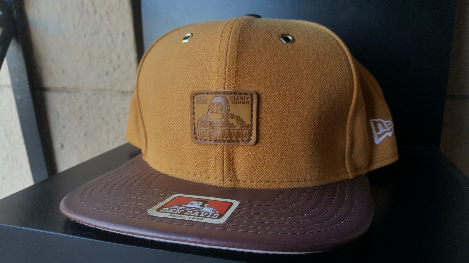 Custom Ben Davis New Era Wheat   Brown Leather Snapback hat  5add6899ffc0