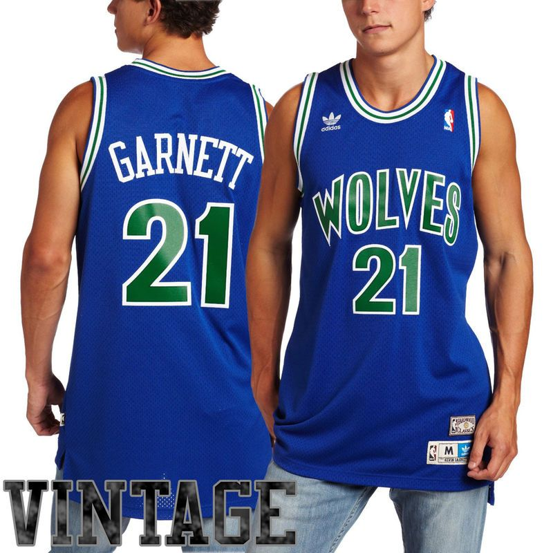 a3446227b adidas Kevin Garnett Minnesota Timberwolves Youth Hardwood Classics Replica  Jersey - Royal Blue