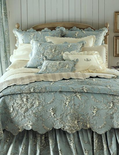Pine Cone Hill Cherubs Bed Linens Robin S Egg Blue Bedroom Decor Bedroom Shabby Chic Bedrooms