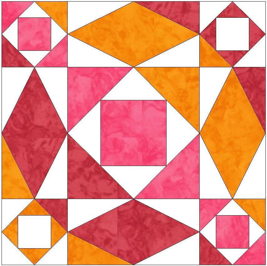 Storm At Sea 15 Inch Block Paper Template Quilting Block Pattern ... : quilting paper templates - Adamdwight.com