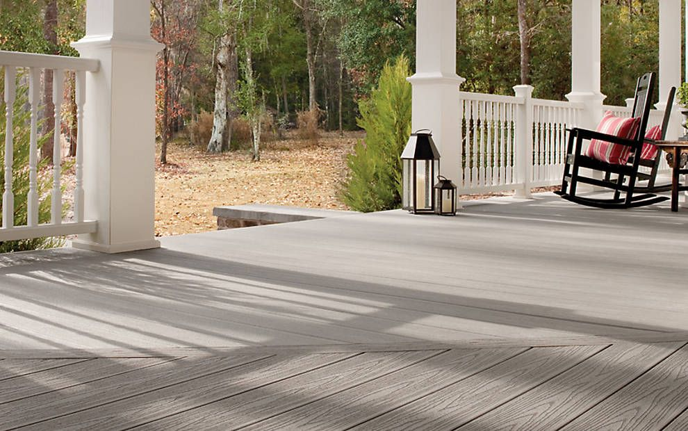 create the perfect porch using #trex transcend in gravel path