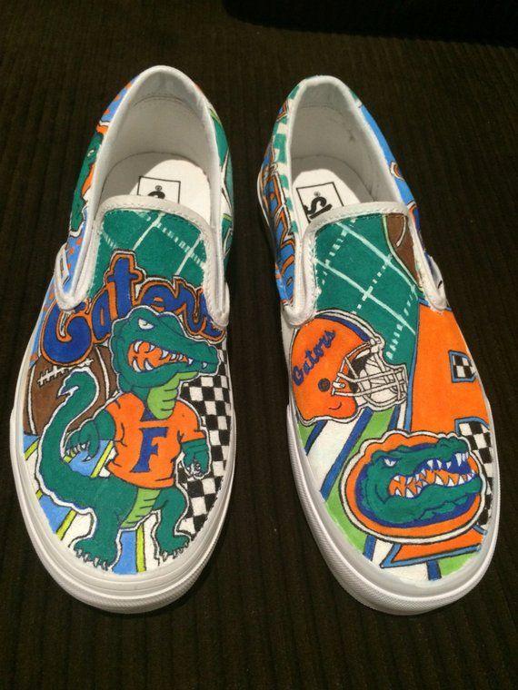 d88b5f349e03 Custom hand painted University of Florida Gators Vans sneakers in ...