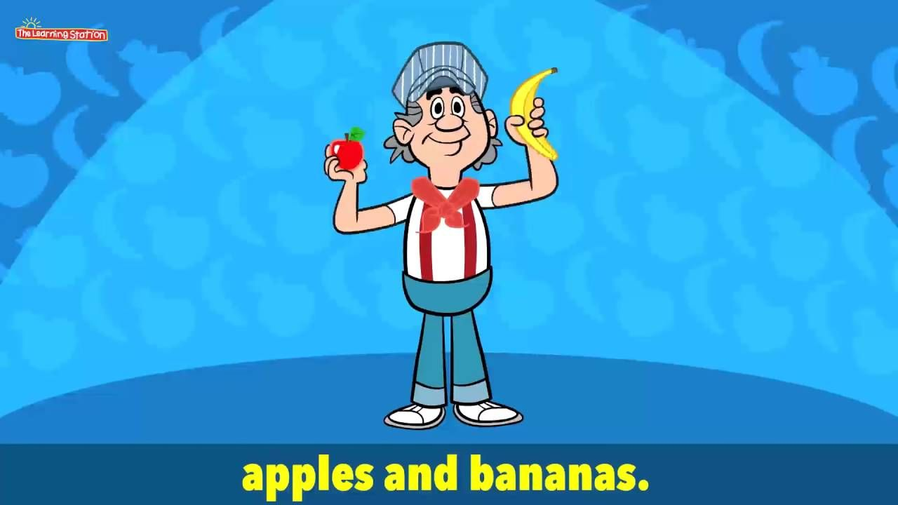 Apples and Bananas with Lyrics Vowel Songs Kids Songs by