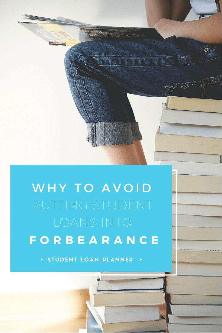 Dont sign up for forbearance student loans federal