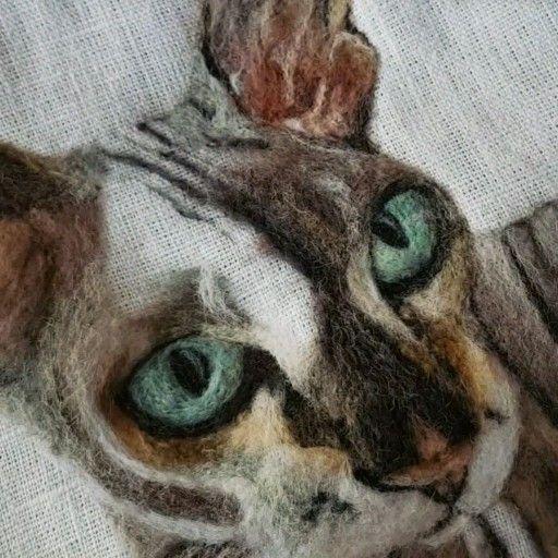 Photo of Retrato de mascota de fieltro de aguja personalizado, marco de pintura de gatos personalizado, regalo de pérdida de mascotas, pintura de fieltro de aguja, gato de fieltro de aguja, regalo de amantes de gatos