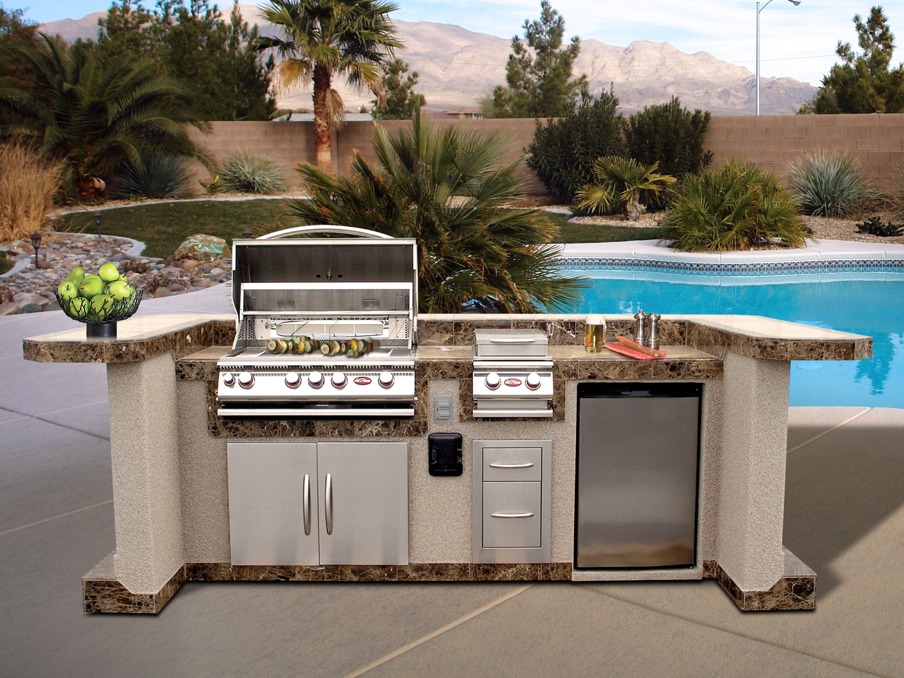 The Ultimate Outdoor Kitchen Cal Flame makes it easy to create your