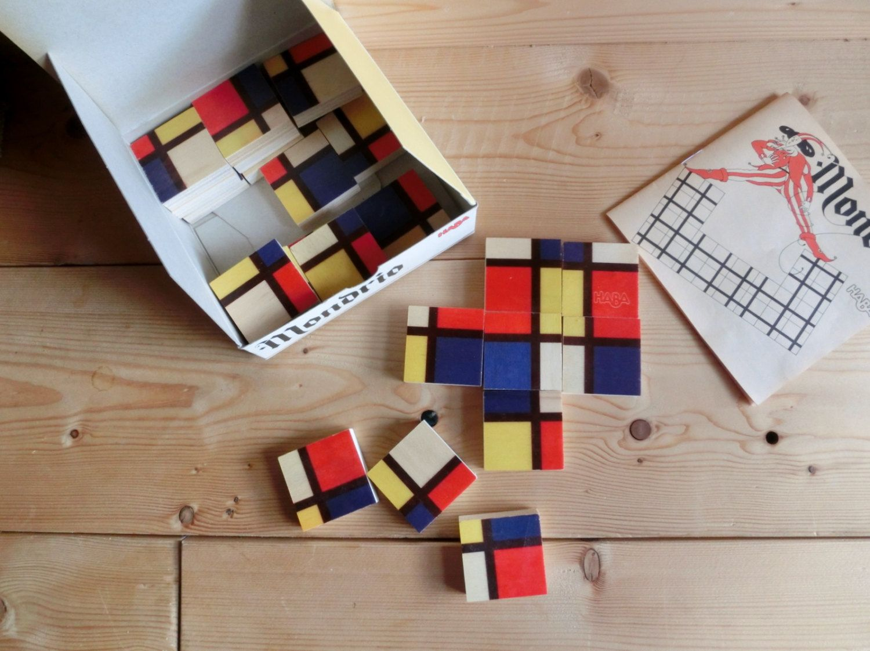 Haba Germany   Puzzle   Mondrio  1991 By Printenkind On Etsy