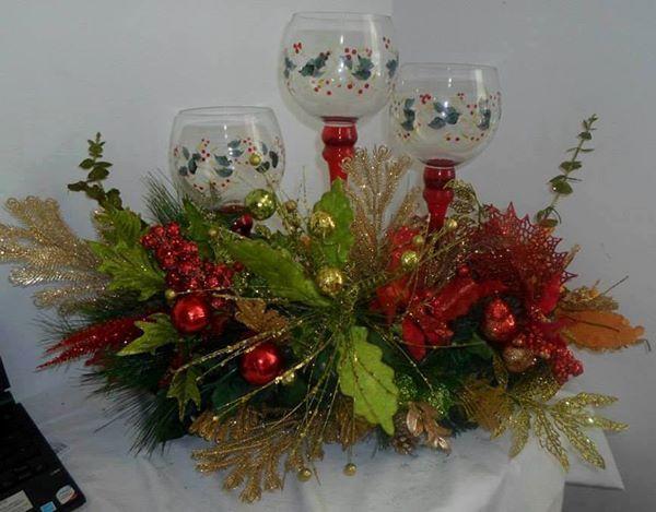 Bello centro de mesa Navidad Pinterest Centros de mesa, Centro